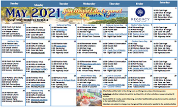 May Memory Care Calendar 2021